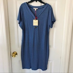 NWT ROLLA COSTER blue striped stretchy dress SZ S